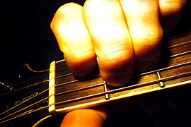 The Chord of E major: Chords explained in Guitar lessons, Newburgh, Fife