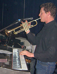 Dave with Soul Inferno in 2005: Trumpet & Keys lessons, Newburgh, Fife