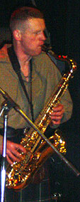 Dave playing Tenor Sax with the Herculean Ceilidh Band  1998: Saxophone lessons,  Newburgh, Abernethy, Lindores